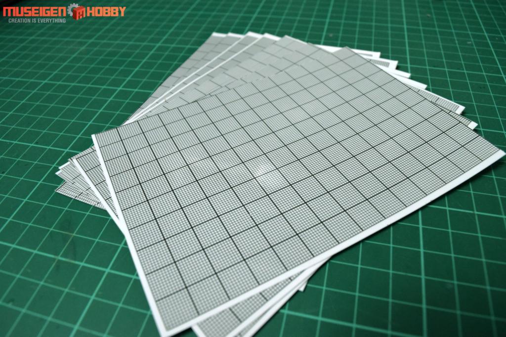 HD Model Self-Adhesive Graph Paper (Clear) 8sheet