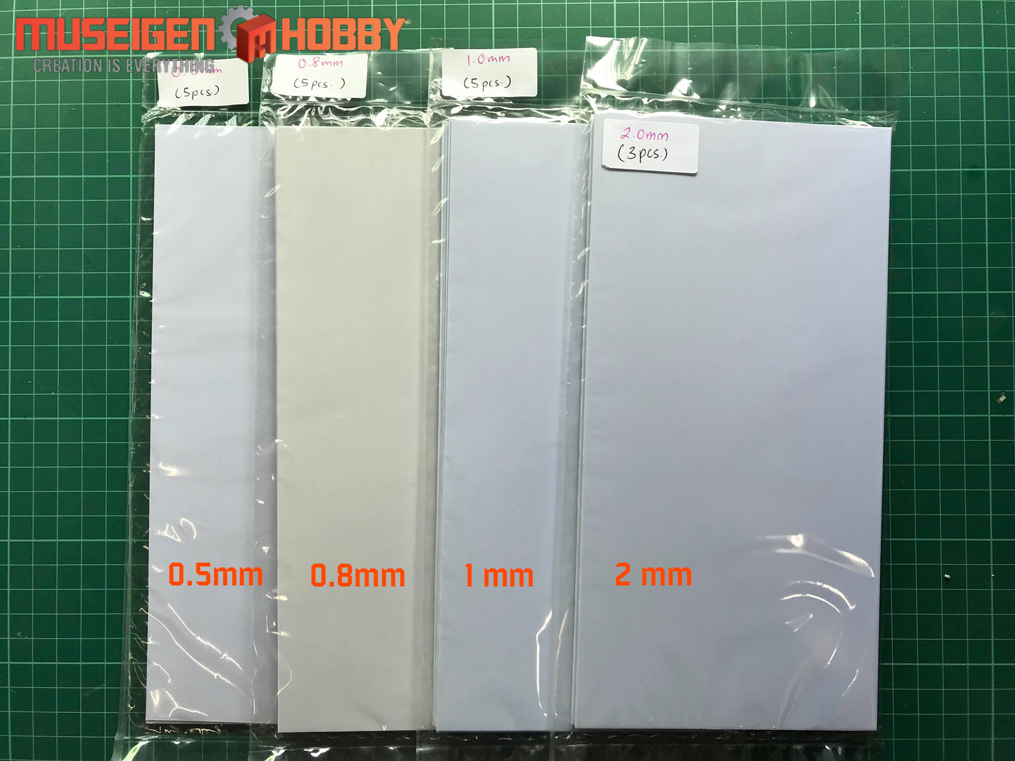 Abs Plastic Sheet Pla Plate White Scratch Build Materials
